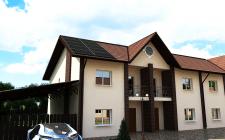 Визуализация таун хауса с солнечными панелями
