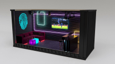 Design of a nightclub from a shipping container