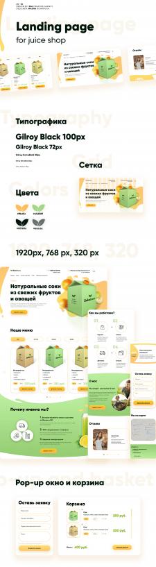 дизайн сайта для  Juice shop