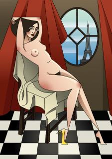 """Иллюстация """"Margarita"""" из серии """"Woman in cubism"""""""