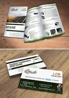 Каталог и визитка для компании лед светильников
