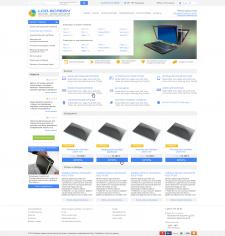 Дизайн интернет-магазина комплектующих