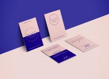 Визитка и карточка с благодарностью клиентам