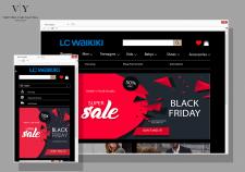 Дизайн сайта (без верстки) LC WAIKIKI