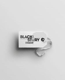 BLACKSTORYdesign logo and label
