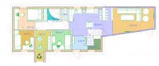 The plan of the first floor of the country house