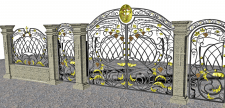 Дизайн кованых ворот в храм