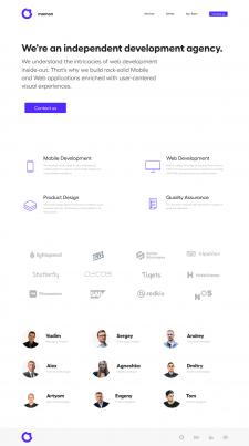 Создание сайта Mamon.pro на Bootstrap
