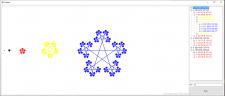 Фрактал звезда(снежинка)