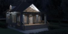 Загородный домик с террасой (360° панорамный тур)