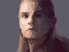 полигональный портрет (Леголас)