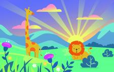 Жираф та лев