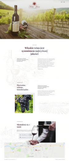 Сайт визитка для производителя испанский вин