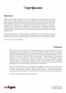 [РУС-АНГ] Отчет ICO проекта
