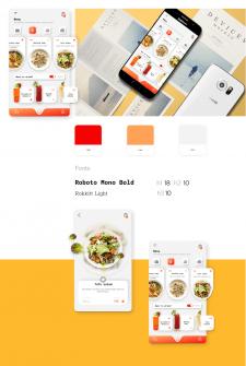 UI design for mobile-restaurant upp