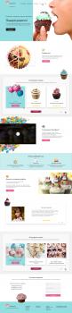 Разработка дизайна сайта кондитерских изделий