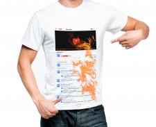 Принт на футболку для видеоблогера на YouTube