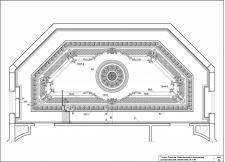 План потолка с гипсовыми декоративными элементами