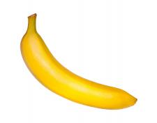 Банан на білому фоні