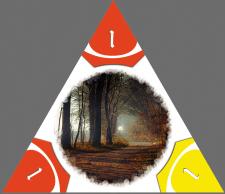 Дизайн к настольной игре треугольники. Тайл.