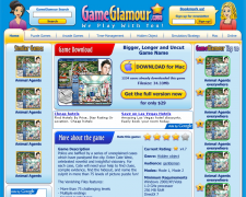 GameGlamour.com - дизайн страниц, страница игры