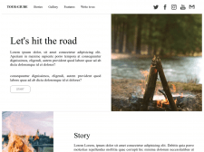 Landing page кемпинг тура с адаптивной версткой