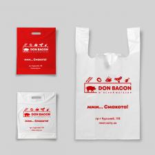Элемент фирменного стиля мясного магазина (пакет)