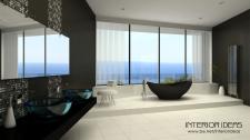 Дом в стиле минимализм ванная комната. Калифорния