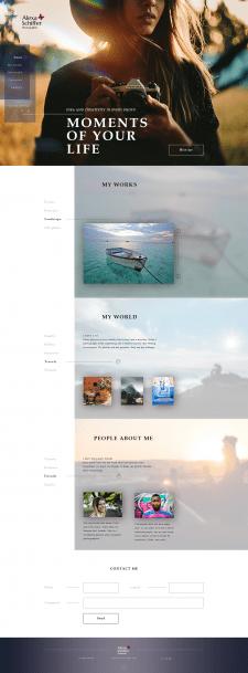 Сайт профессионального фотографа