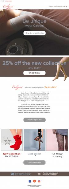 Дизайн шаблона e-mail