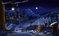 Monster Tale - Background winter Night