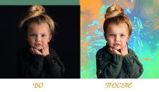 Обработка детского фото в стиле Dream Art