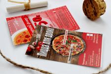 Дизайн флаеров, листовок для пиццерии