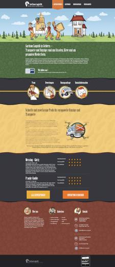 LandingPage логистической компании