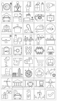 Иконки для туристического сайта