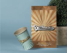 Дизайн упаковки и логотип кофейни «Coffeemania»