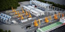 Визуализация зернового терминала морского порта