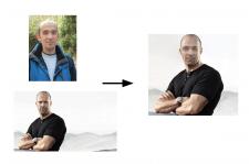 Замена лица на фотографии