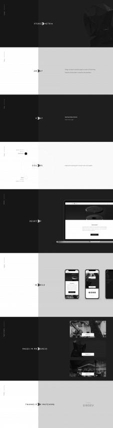 Stereometria — Дизайн сайта для студии печати