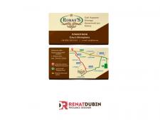 Визитка с картой проезда для загородного комплекса