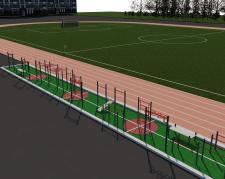 Спортивная площадка с тренажерами