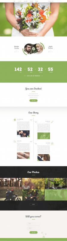Дизайн свадебного сайта