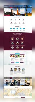 Дизайн сайта Курсов английского языка