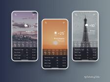 Design of weather mobile app