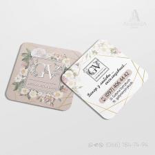 Квадратная визитка флориста