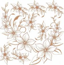 полотно цветов