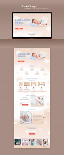 Дизайн Landing Page детской кроватки