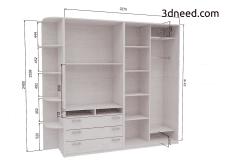 Моделирование шкафа купе для завода производителя.