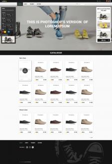 Интернет-магазин обуви (концепт)