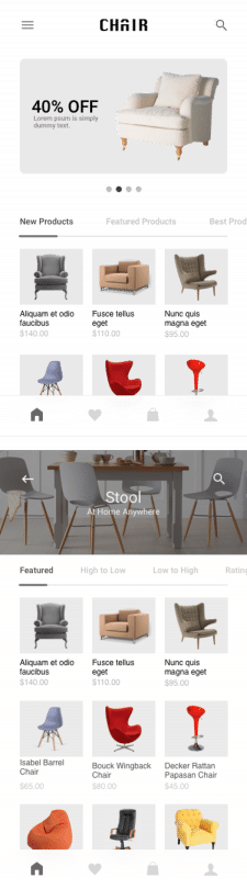 CHAIR - mobile app